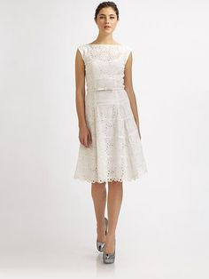 I love the vintage feel of this dress, especially the boat neck and cut-out lace!