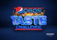 Pepsi Taste challenge 3D typography by Neil Duerden, via Behance