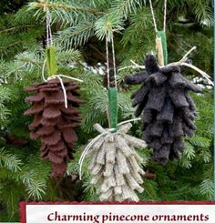 Pine Cone Sweater Ornaments~ Pinned by facebook.com/MysticsHallow Bath & Body. Custom orders welcome.