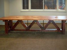 Don't know if you like this style @Katheryn Jones Reclaimed Wood Conference Room Table by Antique Woodworks