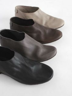 evam eva | leather slip-on shoes