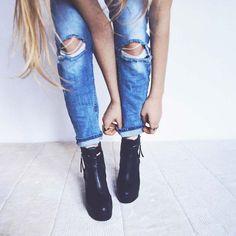 Leni Klum: Das erste Mama-Tochter Interview + Vogue Cover Shooting. Wir beantworten alle Fragen zum Alter, Vater, Instagram, TikTok & Co. (Bild: Pixabay.com), jetzt online! Jeans Skinny, Skinny Fit, Ripped Jeans, Cute Summer Outfits, Cute Casual Outfits, Dress Casual, Casual Summer, Denim Fashion, Fashion Outfits