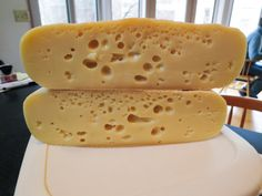 "A Recipe for Baby Swiss Cheese We suggest making a 4+ pound cheese for this one so the curd mass will contain enough gas production to develop proper holes. If you would like to make a 2 gallon cheese with less ""Swiss"" type character, make the..."