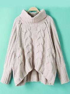 Negozio Crop maglia con collo alto grigia on-line. SheIn offre Crop maglia con collo alto grigia & di più per soddisfare le vostre esigenze di moda.