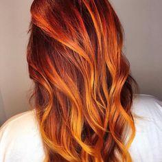 Fire Hair Color, Hair Goals Color, Cool Hair Color, Hair Colour, Hair Color Balayage, Ombre Hair, Arctic Fox Haarfarbe, Red Bob Hair, Arctic Fox Hair Color