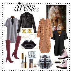 """""""choker dress"""" by nhousedesigns-bynicole on Polyvore featuring Boohoo, Charles by Charles David, Dr. Martens, Ryan Roche, BaubleBar, Chanel, Missoma, Ariel Gordon, Yves Saint Laurent and GlamGlow"""
