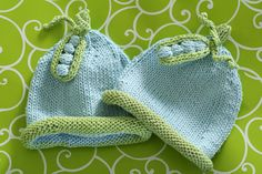 Sweet Pea baby hats by Susan B Anderson - pattern on my ravelry shop!