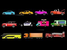 Learn Street Vehicles for Children - 21 Street Vehicles - Car, Bus, SUV,...