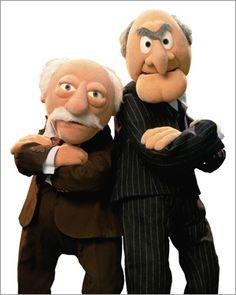 Statler and Waldorf of the Muppet Show (Jim Henson) Jim Henson, Muppet Babies, Emission Tv, Sesame Street Muppets, As Leis, Fraggle Rock, Film School, School Tv, Movies