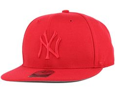 47 Brand - NY Yankees No Shot Red/Red Snapback