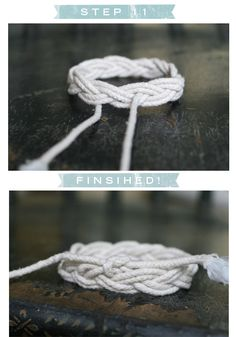 Sailor's knot bracelet.