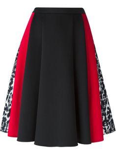 Versace pleated panelled skirt