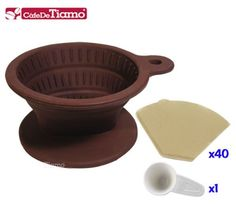 Cafe de Tiamo Collapsible Silicone Coffee Filter Cone Brown (HG2331) *** Find out more about the great product at the image link.