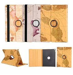 iPad Pro World Map 360⁰ Case Design Stand Function High Quality PU Leather Case