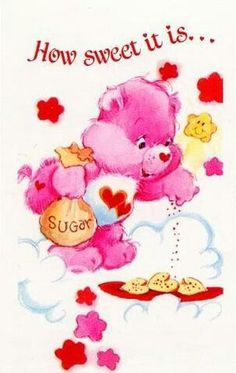 Love-a-Lot Bear making sugar cookies