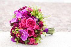 Brautstrauß lila und pink