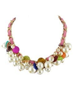 Hot Sale Beautiful Women Fake Cluster Pearl Necklace 4.90