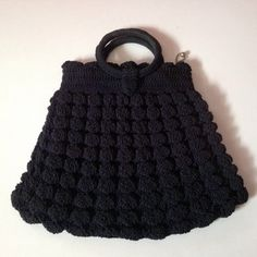 Vintage Black crocheted purse from the 1940s. by BlkBttrflyDsgns
