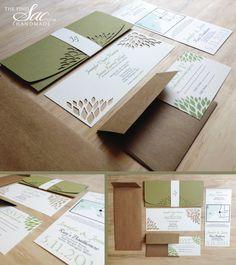 Simple Elegance Wedding Invitation  Handmade Wedding by TheFindSac, $3.00