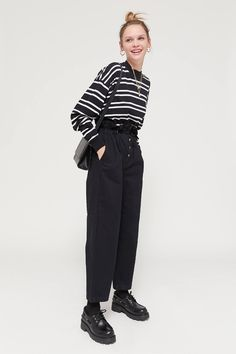 UO Terra High-Waisted Paperbag Pant | Urban Outfitters