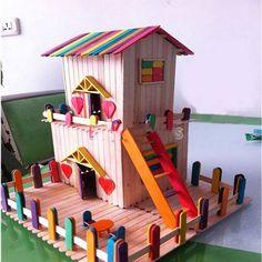 Popsicle Sticks House for Kids