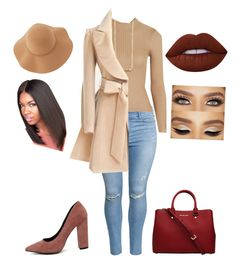"""It's cold out, but I m sexy😉"" by beautybybebe on Polyvore featuring H&M, MICHAEL Michael Kors, Topshop, Me & Zena, Sans Souci, Qupid and Lime Crime"