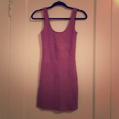 Free People Bodycon Dress Cute textured knit, great condition Free People Dresses Mini
