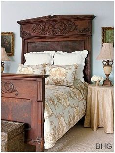 #bedroom #frenchcountry #ideas #home @artisanslist ❤️ ❤️ ❤️     French Country Decorating Ideas! This bed is so incredibly, so, so, so BEAUTIFUL