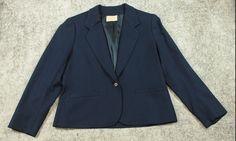 Pendleton Wool Blazer Jacket Womens Size 14 Blue #Pendleton #Jacket
