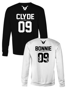 Bonnie Clyde sweatshirts, Bonnie and Clyde custom number sweatshirts, Matching sweatshirts for couples, Couples sweatshirts Bonnie And Clyde Shirts, Bonnie Clyde, Couple Shirts, Family Shirts, Crew Neck Sweatshirt, Graphic Sweatshirt, T Shirt, Matching Couples, Hoodies