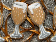New Years Cookies~                    By sweetambs, Brown, Champaign glasses