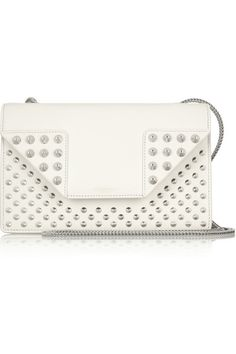 f83dadced8 Sac porté épaule en cuir Betty Small White Shoulder Bags