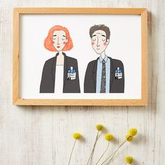Ilustración Mulder and Scully , Expediente X X Files, Scully, Illustrations, Gift Store, Pop, Decoration, Art Inspo, Something To Do, Digital Prints
