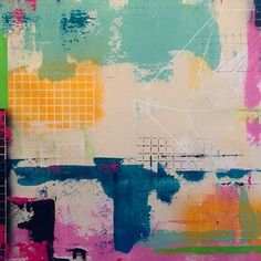 Work in progress #abstract #painting #rawcanvas #grid @vemagallery