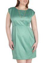 Shower with Compliments Dress in Green - Plus Size | Mod Retro Vintage Dresses | ModCloth.com