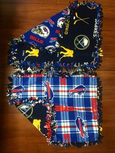 "Buffalo teams / fleece baby blankets / 20"" x 26"" / 3 of plaid by GeeGeeGoGo on Etsy"