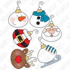navidad, stamp.tree digital, chuchería, reno, santa, escarchado, patín