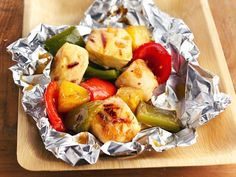 Eaaasy!! Pineapple-Chicken Kabob Packets