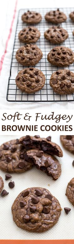 Super soft and chocolatey Brownie Cookies! Everything you love about a brownie but in cookie form! | chefsavvy.com #recipe #dessert #cookie #brownie #chocolate #brownie