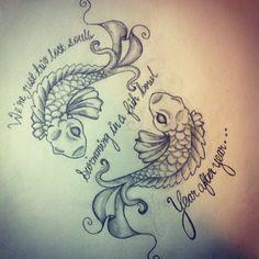 Koi Fish and Pink Floyd Lyrics Tattoo Art Lyric Tattoos, Key Tattoos, Tattoos Skull, Body Art Tattoos, Cool Tattoos, Peace Tattoos, Tatoos, Pink Floyd Quotes, Pink Floyd Art