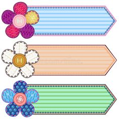 Illustration about Set of scrapbook banners with flowers and stitches. Illustration of advertisement, button, banner - 22182439 Boarder Designs, Frame Border Design, Page Borders Design, School Border, Boarders And Frames, Powerpoint Background Design, School Labels, School Frame, Borders For Paper