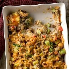 Beef & Tater Bake Recipe -The entire family will enjoy this heartwarming, all-in-one dinner. Plus, it offers easy cleanup! —Mike Tchou, Pepper Pike, Ohio