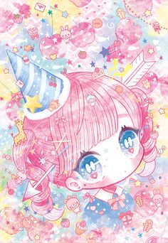 Image about pink in 💟anime💟 by ♡°De°♡ on We Heart It Anime Chibi, Kawaii Chibi, Cute Chibi, Kawaii Anime Girl, Kawaii Art, Kawaii Drawings, Colorful Drawings, Cute Drawings, Anime Kunst
