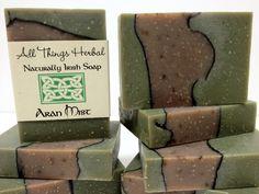 Patchouli Mint Irish Aran Mist Handmade Soap  Patchouli