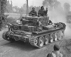 A Centaur IV close support version) tank of the Royal Marine Armoured Support Group churns up a cloud of dust on the advance near Tilly-sur-Seulles on June Original pin by Paolo Marzioli