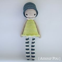 Amélie. Crochet doll by { Amour Fou }