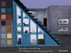 ShinoKCR's Under Stair - Shelves Recolors