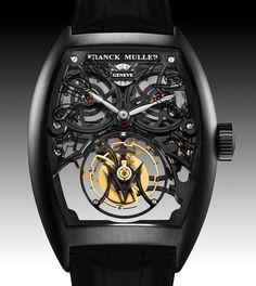 La montre Franck Muller Giga tourbillon.