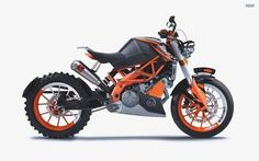 Customised/modified KTM Duke 390
