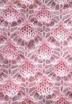 Knit pattern for fine yarn